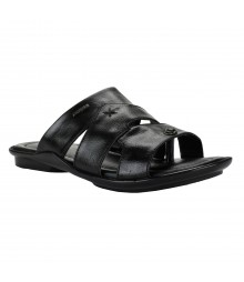Cefiro Black Slipper for Men - CSP0013